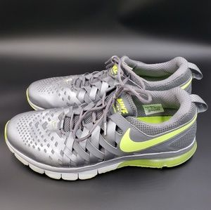 Nike fingertrap max silver gray athletic trainers